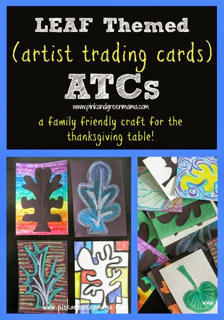 Leaf Themed Artist Trading Cards A Multi Generational Family