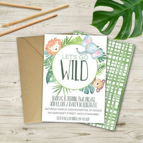 Go wild with this WILD ONE, jungle birthday invitation It forms - invitation forms