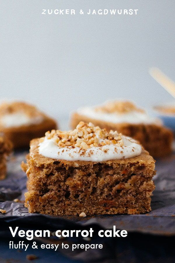 Vegan Fluffy Carrot Cake With Cream Cheese Frosting