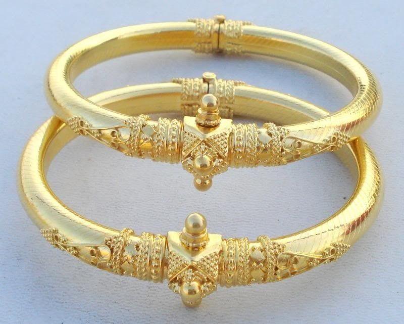 Vintage Antique Solid 22 Carat Gold Bracelet Bangle Pair Rajasthan India Ebay Jewelry Bracelets Gold Gold Bracelet Silver Bangles