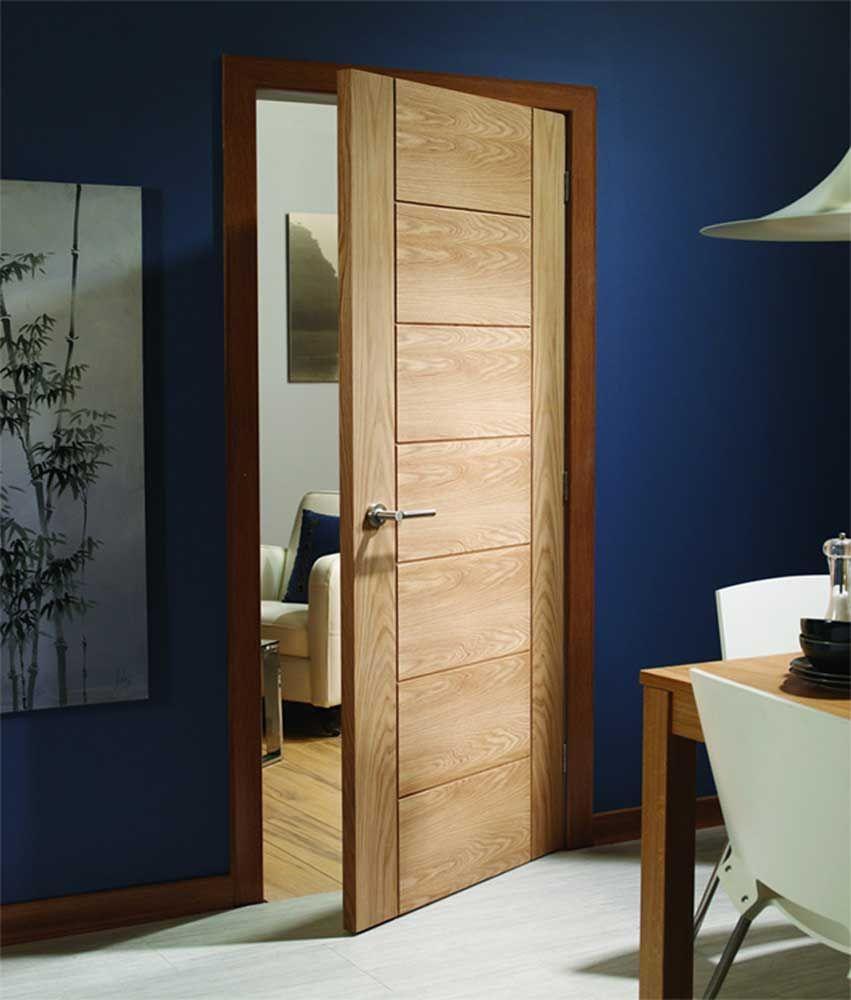 Palermo Oak Prefinished Internal Door - stylish and affordable modern internal oak door with a groove pattern & Preciosa puerta de interior de estilo contemporaneo con un acabado ... pezcame.com