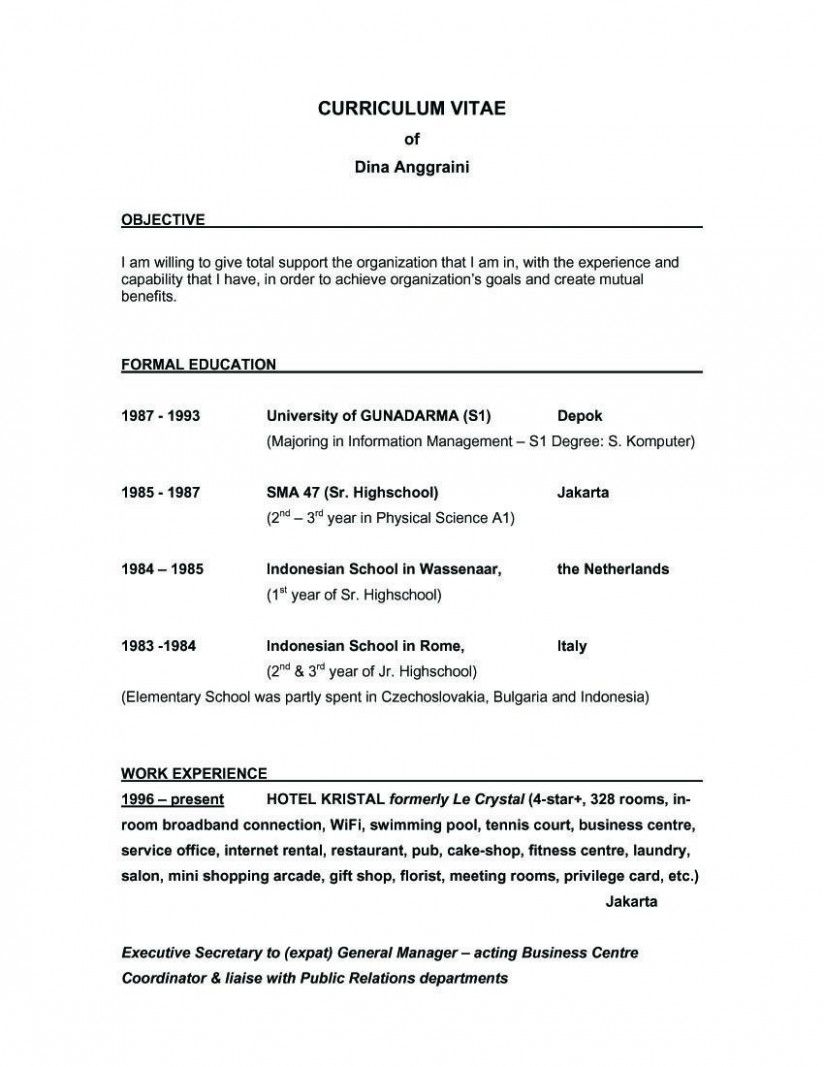12 Pupil Resume Profession Goal Examples in 2020 Good