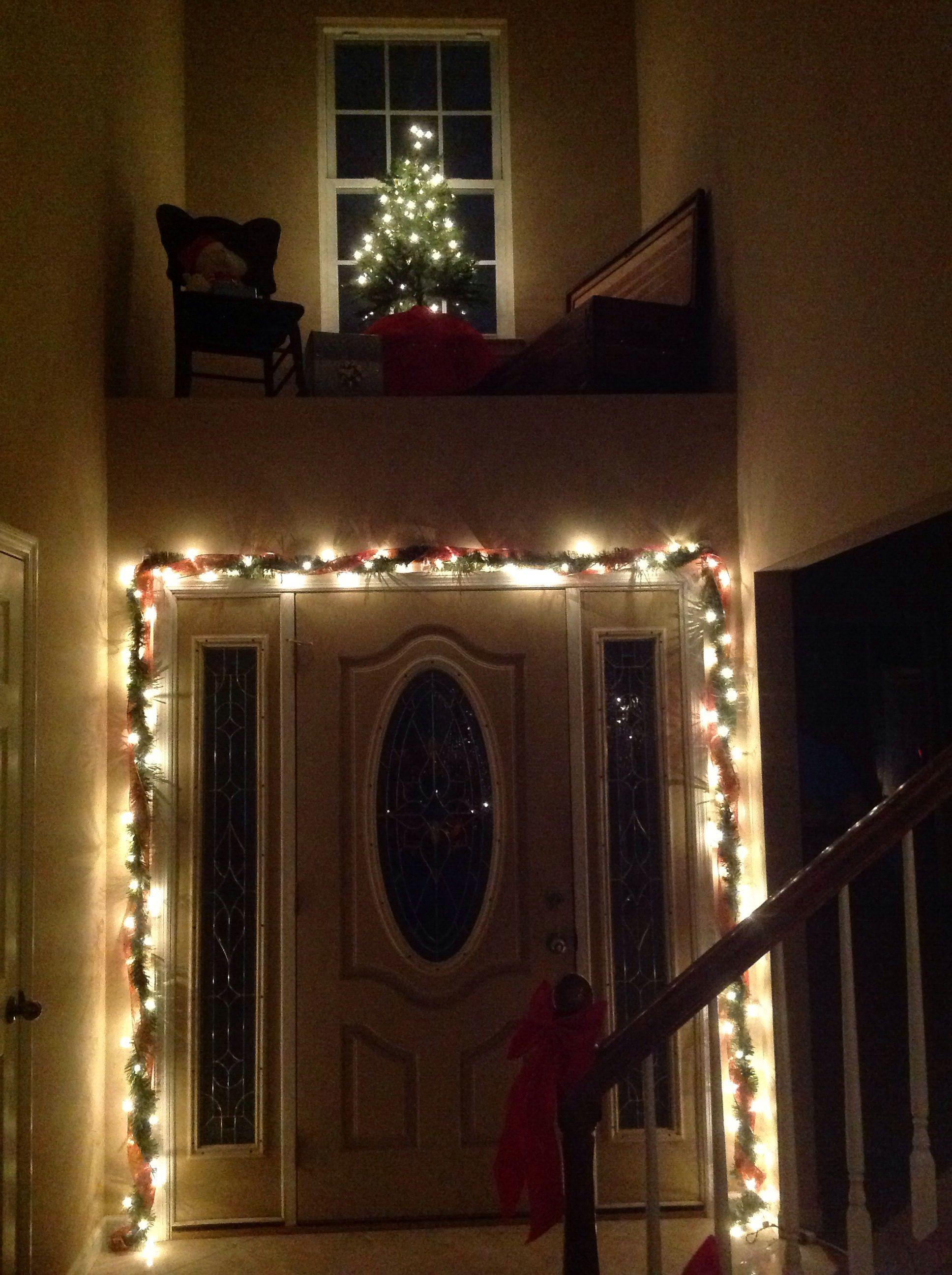 Front Door With Shelf Above Christmas Pinterest