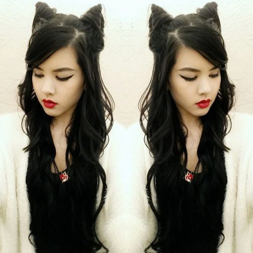 hair cat style alovehatething cat ear buns inspired by aprilfoolromance 4965