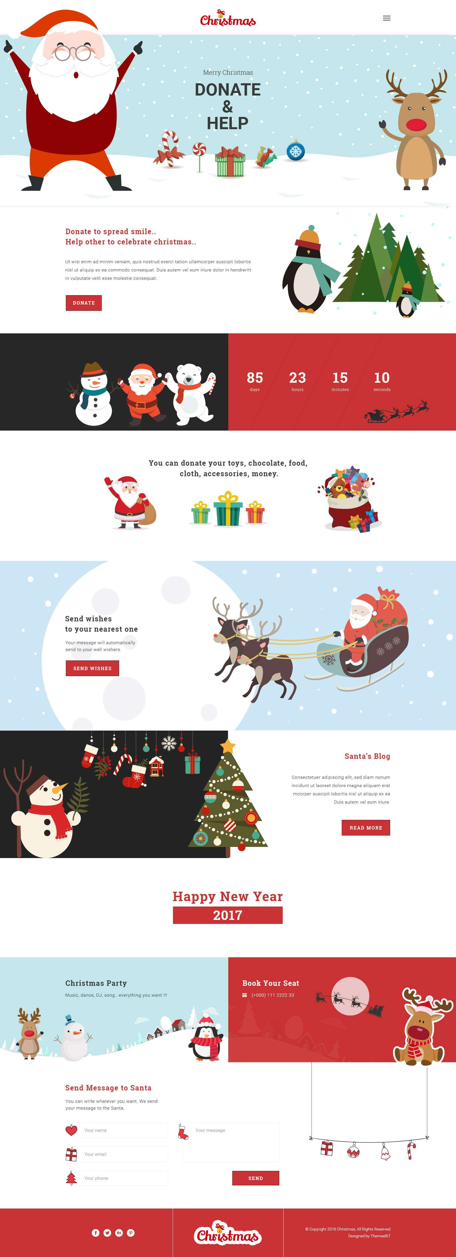 Christmas New Year Psd Template Wix Website Design Website Design Wix Templates