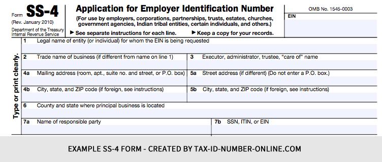 Tax ID Number Application (IRS 2015/2016) | Online Federal Tax ID ...