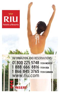 RIU | Tarjeta para llave electrónica. 4 tintas frente