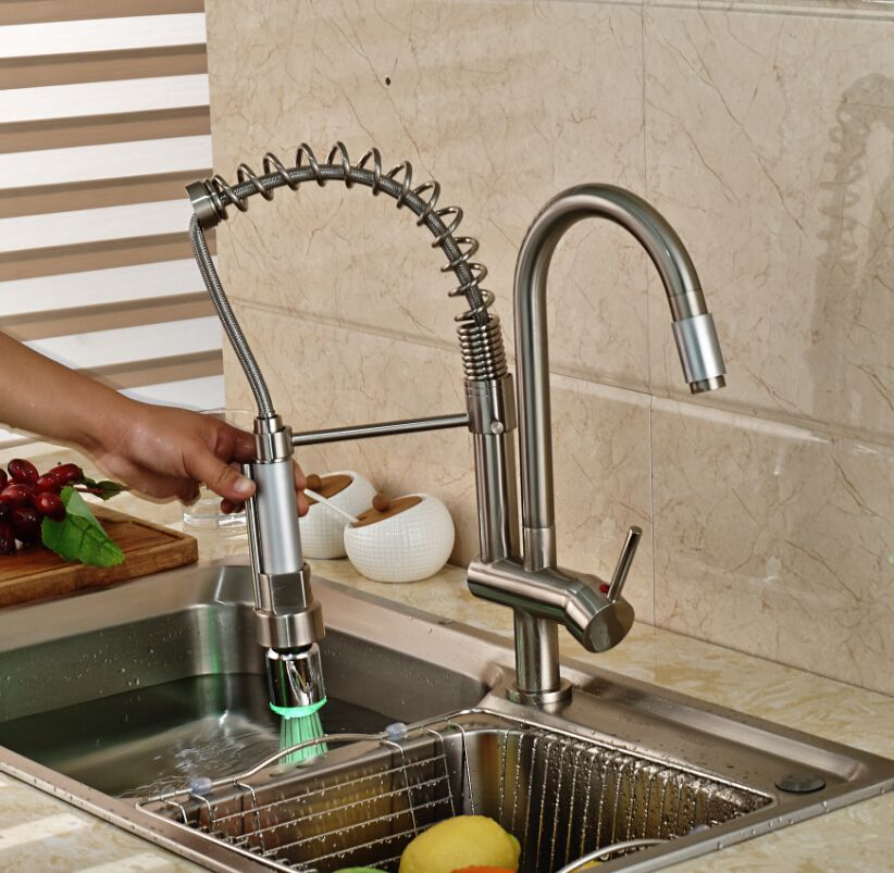 Factory Direct Sale Single Hand Spring Kitchen Sink Faucet Swivel ...