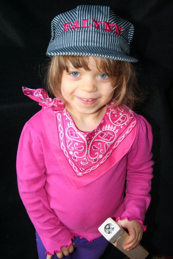bc7dff57987b4 PERSONALIZED GIRL S Train Hat  Bandanna