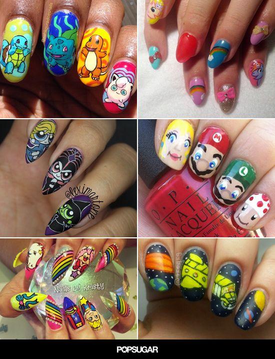 90s Inspired Nail Art That Will Make You Totally Nostalgic 90s Nails Funky Nail Art Stylish Nails Art