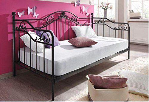 Details Zu Daybed Inkl Lattenrost Metallbett Bett Bettgestell Tagesbett Schwarz 90 X 200cm Tagesbett Ikea Einzelbett Einzelbett