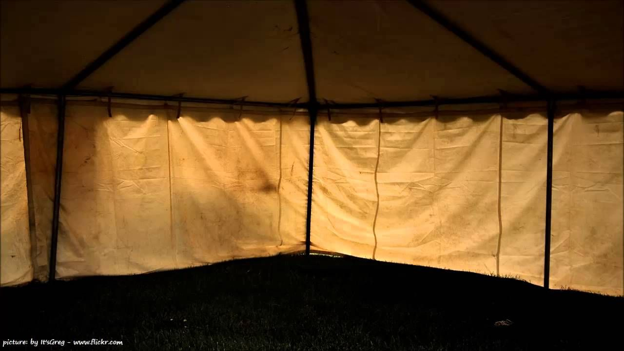 9 HOURS of RAIN on a CANVAS TENT I Sound Therapy I by ...