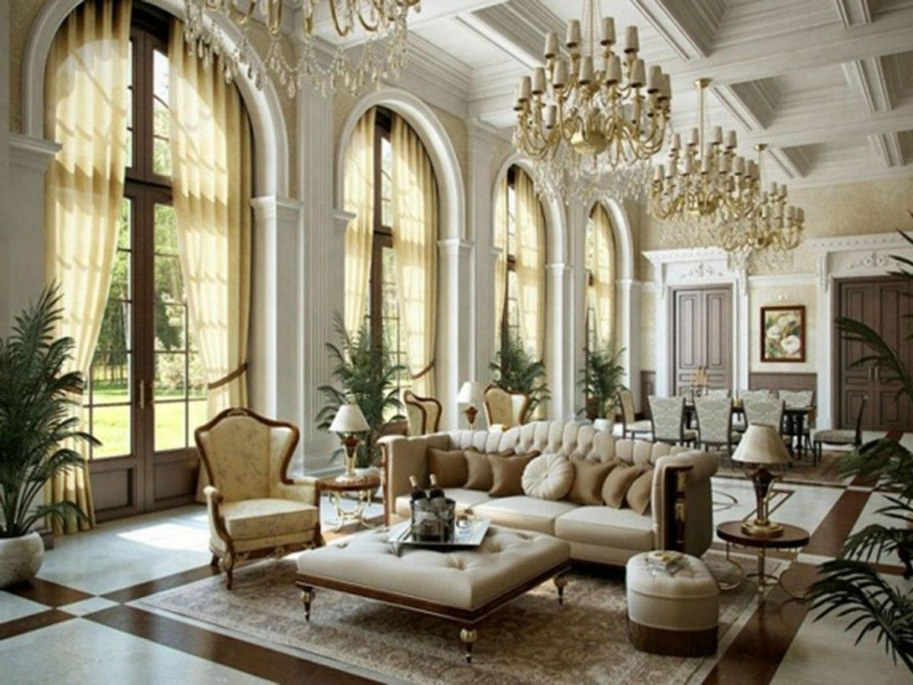 European Style Classic Living Room Interior Design Ballard