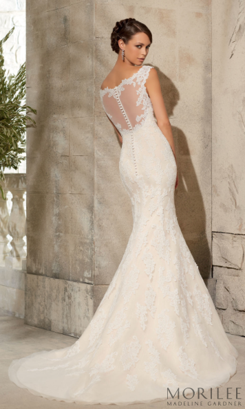 Morilee By Madeline Gardner Style 5316 Is A Vintage Inspired All Lace Fit And Flare Wedding