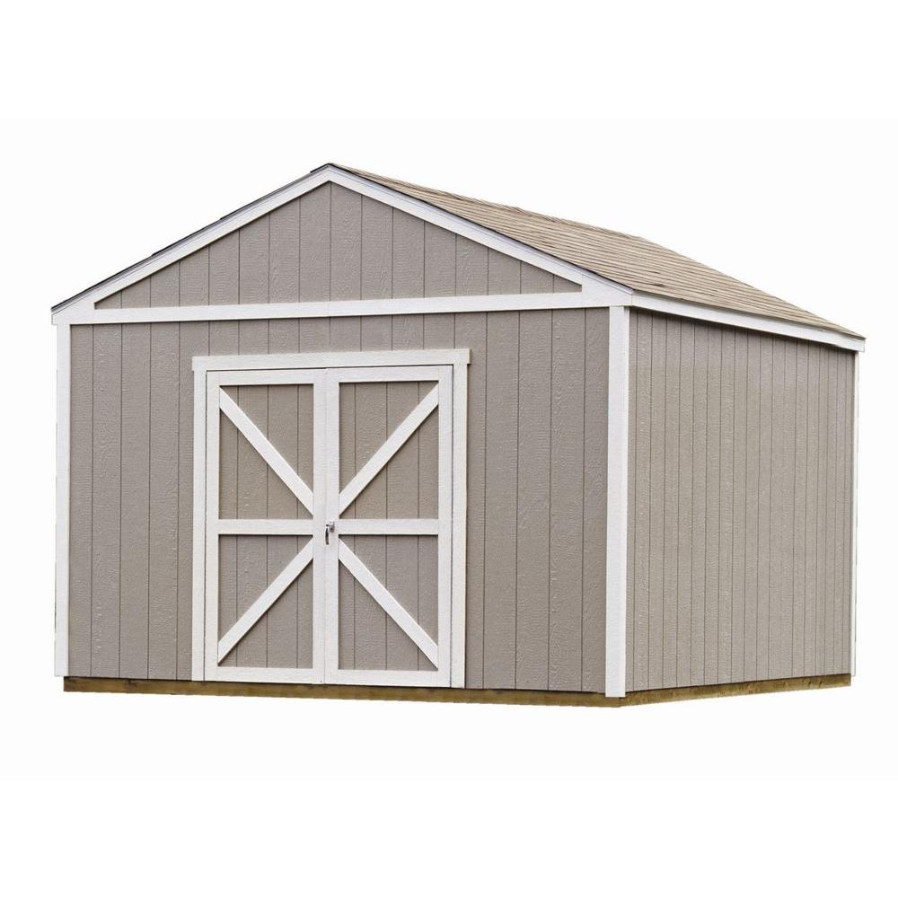 Handy Home Products Columbia 12 Ft X 12 Ft Wood Storage Building Kit With Floor 18217 4 With Images Wooden Storage Sheds Building A Shed Outdoor Storage Sheds