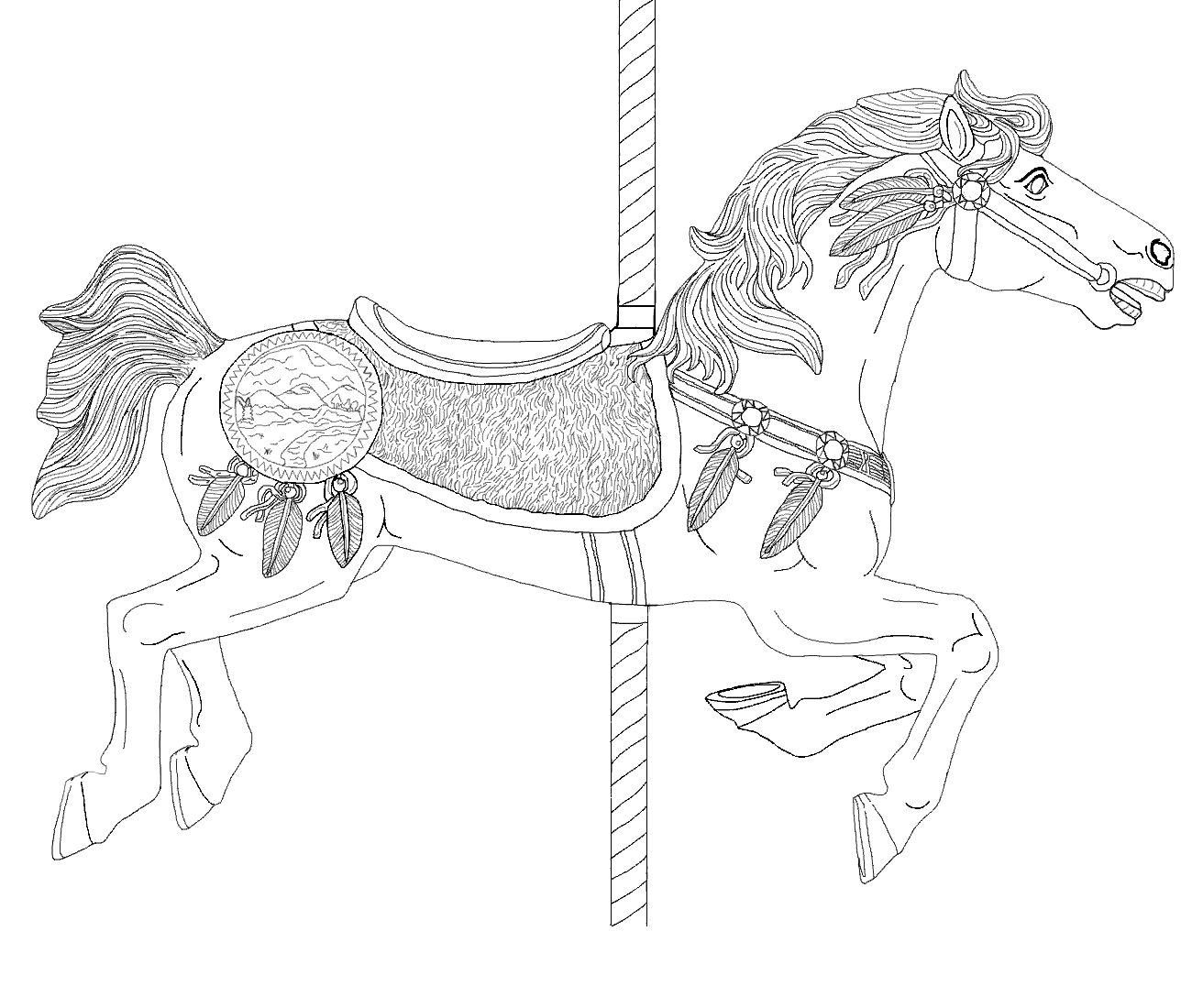 Indian pony by ak coloring fun pinterest pony carousel and