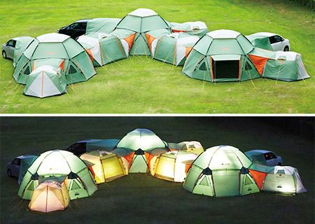 Awesome Modular Tent System Can Be Configured to Your Liking - TechEBlog & Awesome Modular Tent System Can Be Configured to Your Liking ...