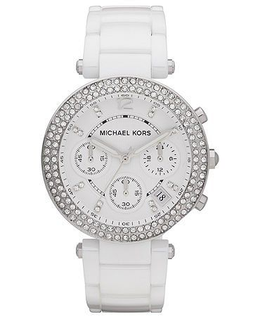 3a0465ccd Michael Kors Womens MK5654 Parker White Stainless Steel Watch: Watches:  Amazon.com