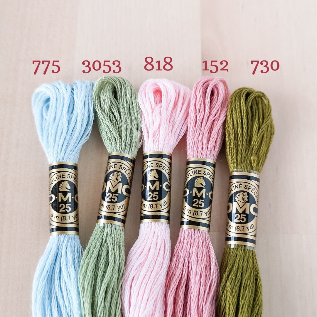Colour 818 Baby Pink DMC Stranded Cotton Embroidery Floss