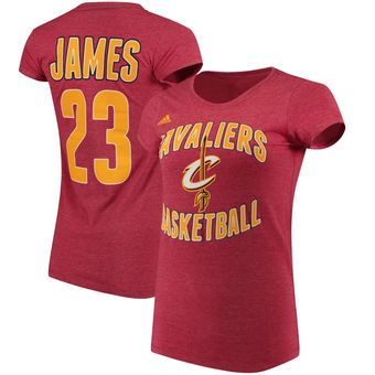 hot sale online ac0da 595fc Cleveland Cavaliers LeBron James adidas Women's Name and ...