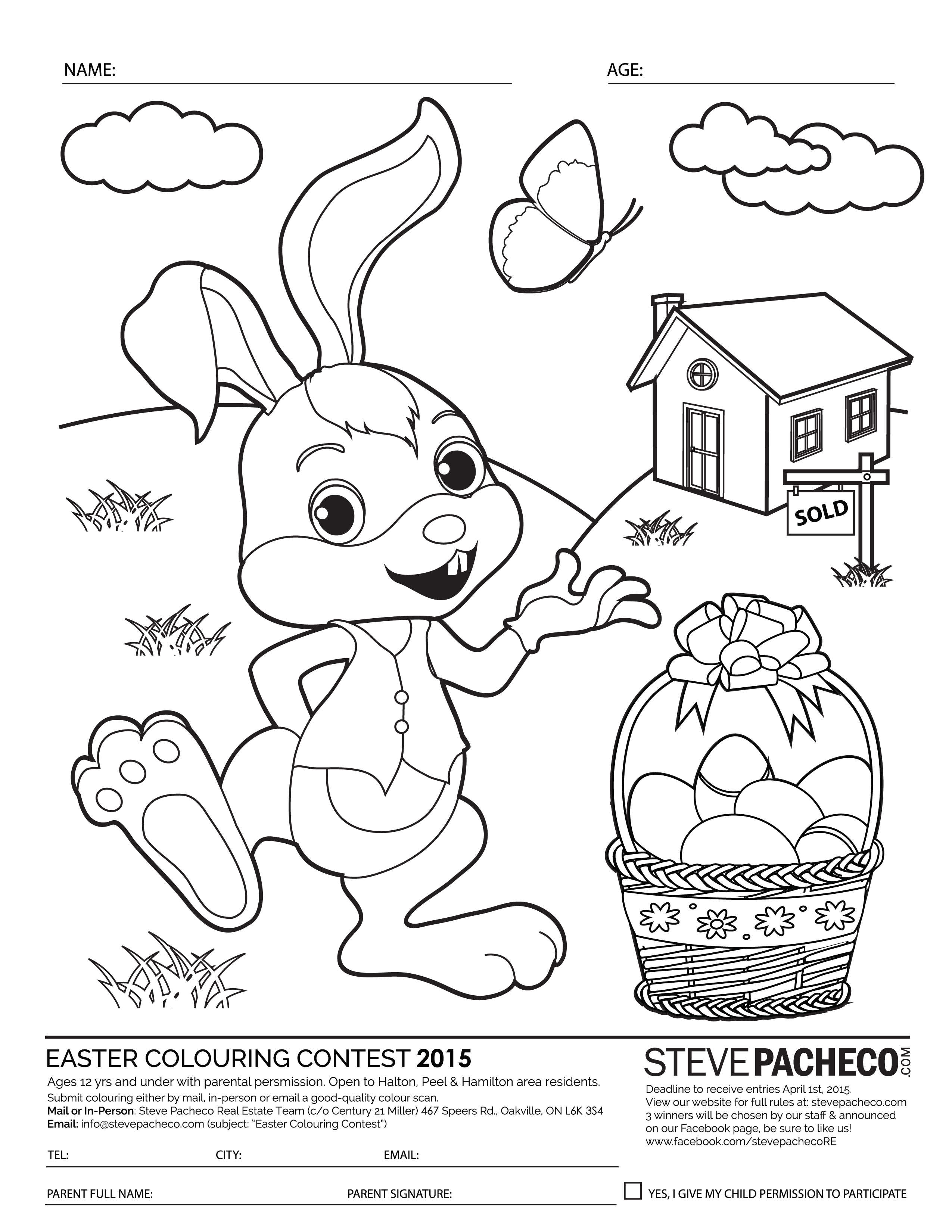 Easter Colouring Contest 2015. Contest open to children