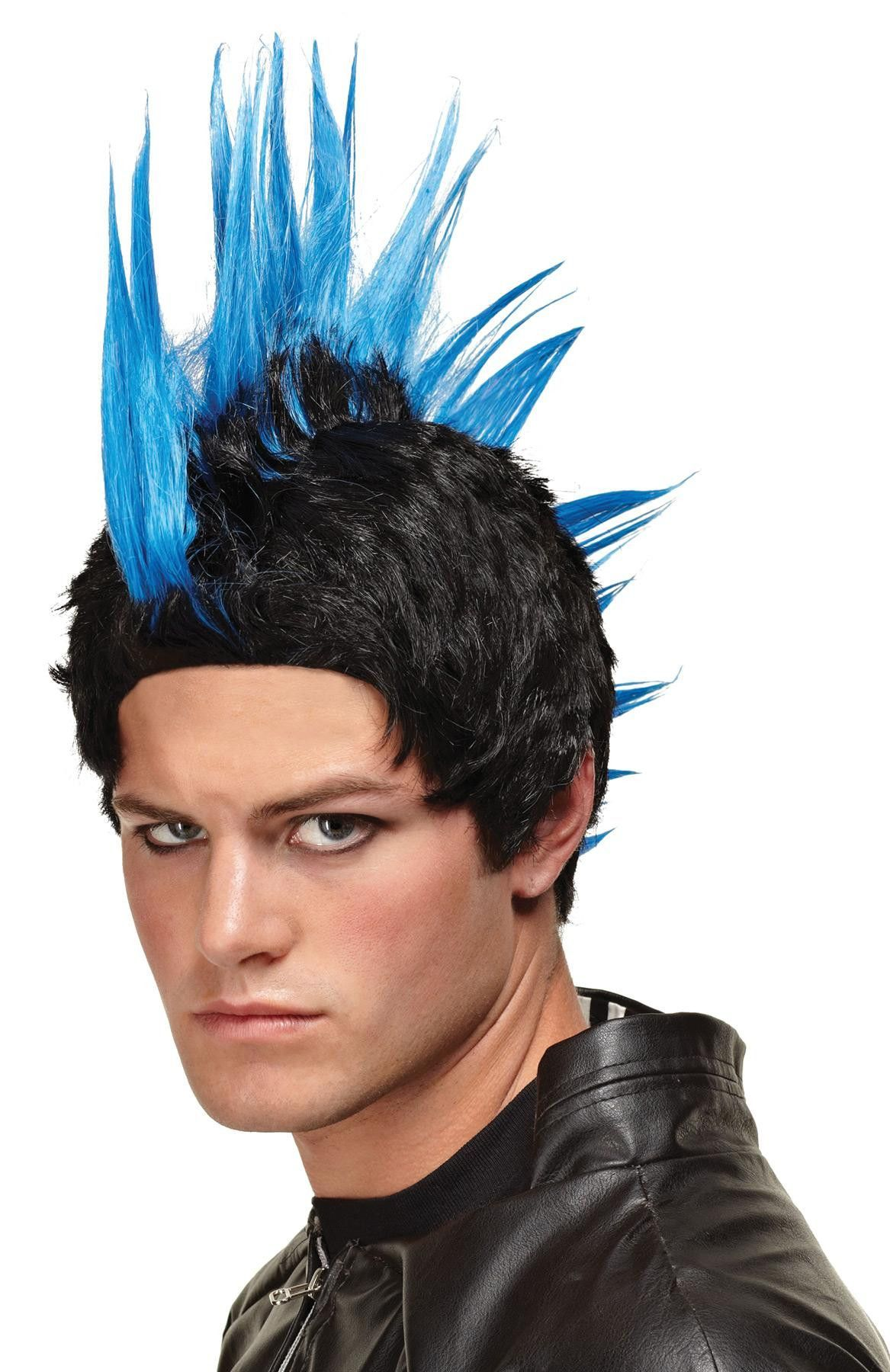 Wig blue punk rocker blue products and wigs