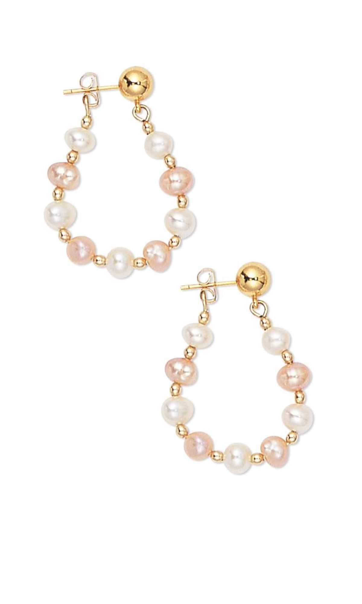 Jewelry Design - Earrings with Cultured Freshwater Pearls and Gold ...