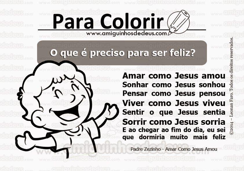 Amar Como Jesus Amou Padre Zezinho Desenho Para Colorir Com Imagens Jesus Te Ama Catequese Criancas Catequese