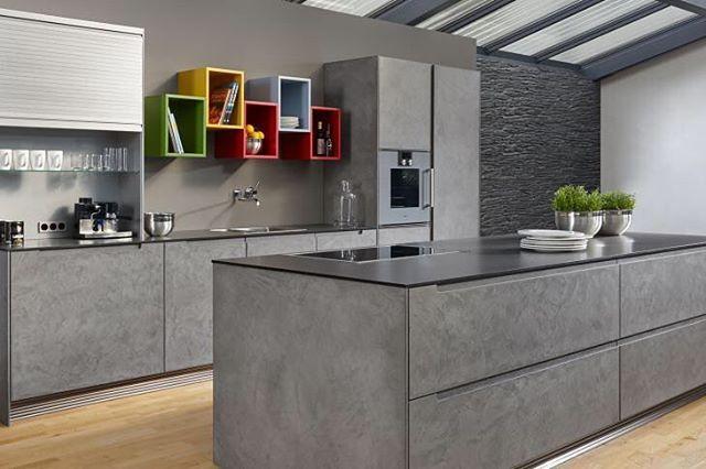 here we see egger decor boston concrete being used kitchen pinterest. Black Bedroom Furniture Sets. Home Design Ideas