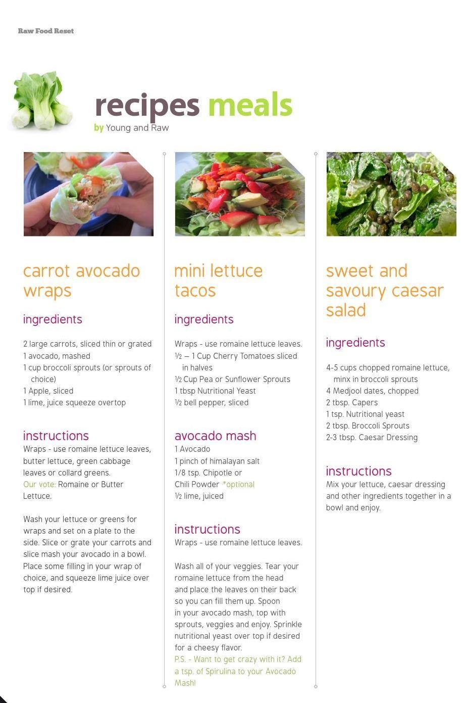 diet plan raw food