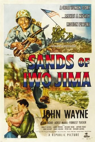 SANDS OF IWO JIMA movie  POSTER john WAYNE war romance ADVENTURE 24X36-PW0