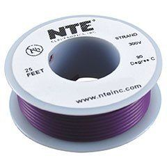 NTE Stranded 26 AWG Hook-Up Wire Violet 25 ft. by NTE. $3.46. NTE stranded 26 AWG violet hook-up wire is perfect for point-to-point internal wiring applications.