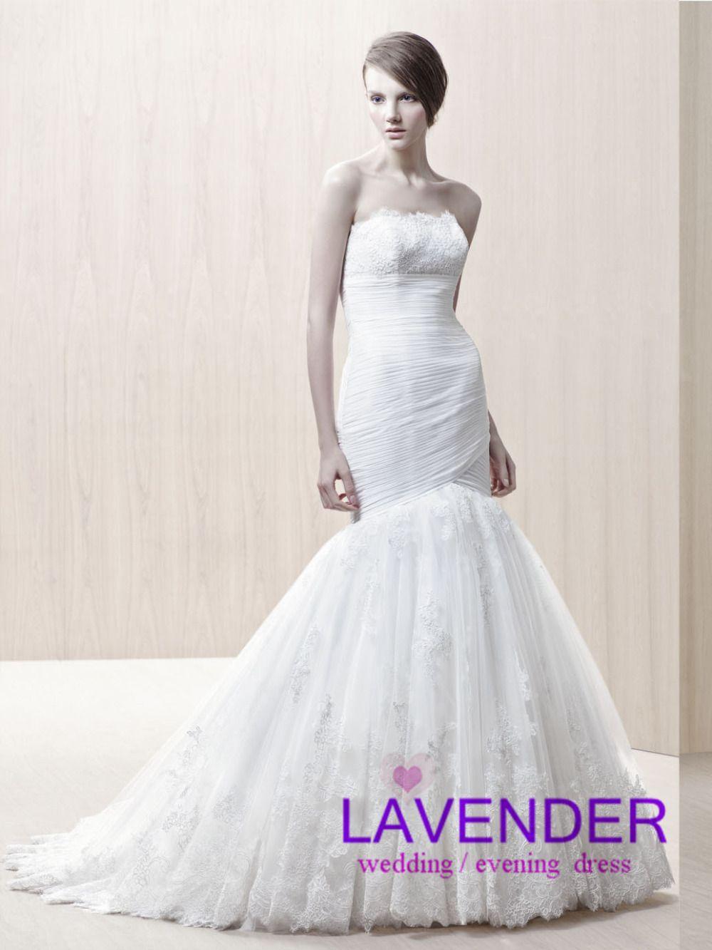 Fashion sexy mermaid wedding dress 2014 new high quality custom bridal gowns vestidos de novia vintage bride dress free shipping US $249.00
