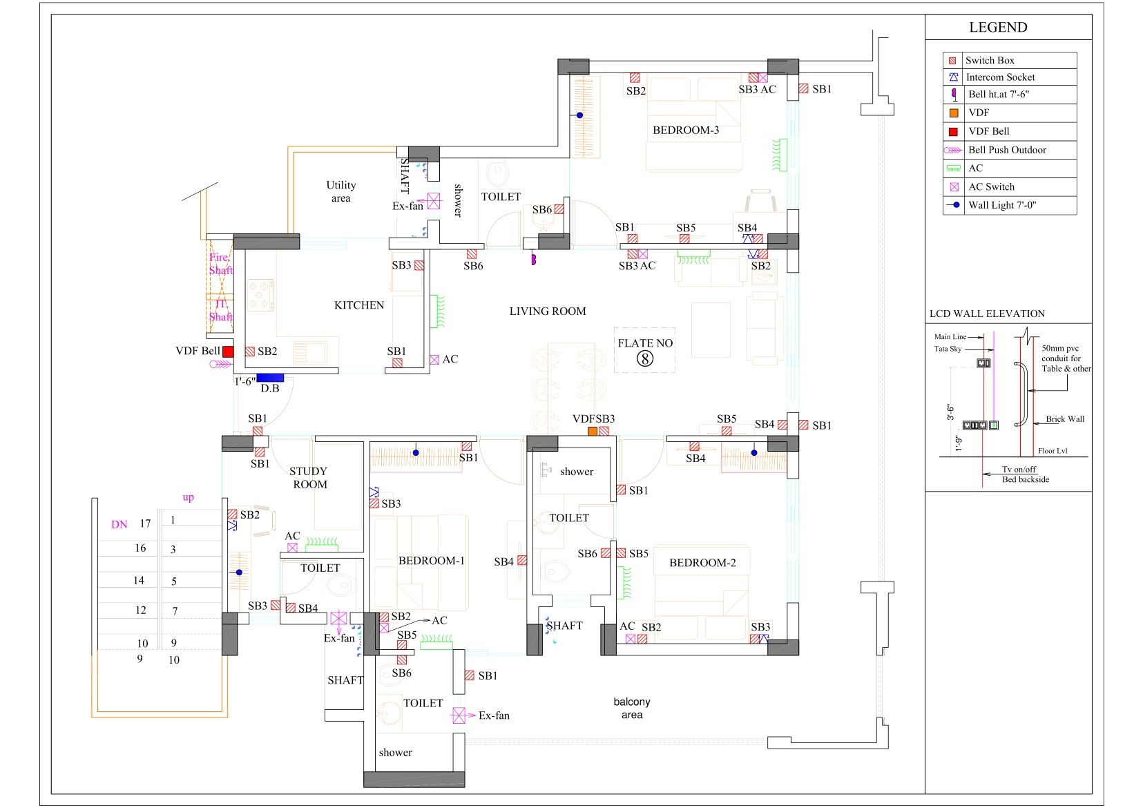 Junction Box Planing You Home In 2020 Ceiling Plan Elevation Plan Electricity