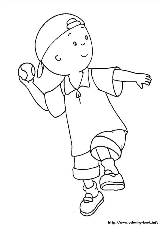 Awesome Caillou Snow Coloring Page Coloring Pages Coloring Pages For Boys Christmas Coloring Pages