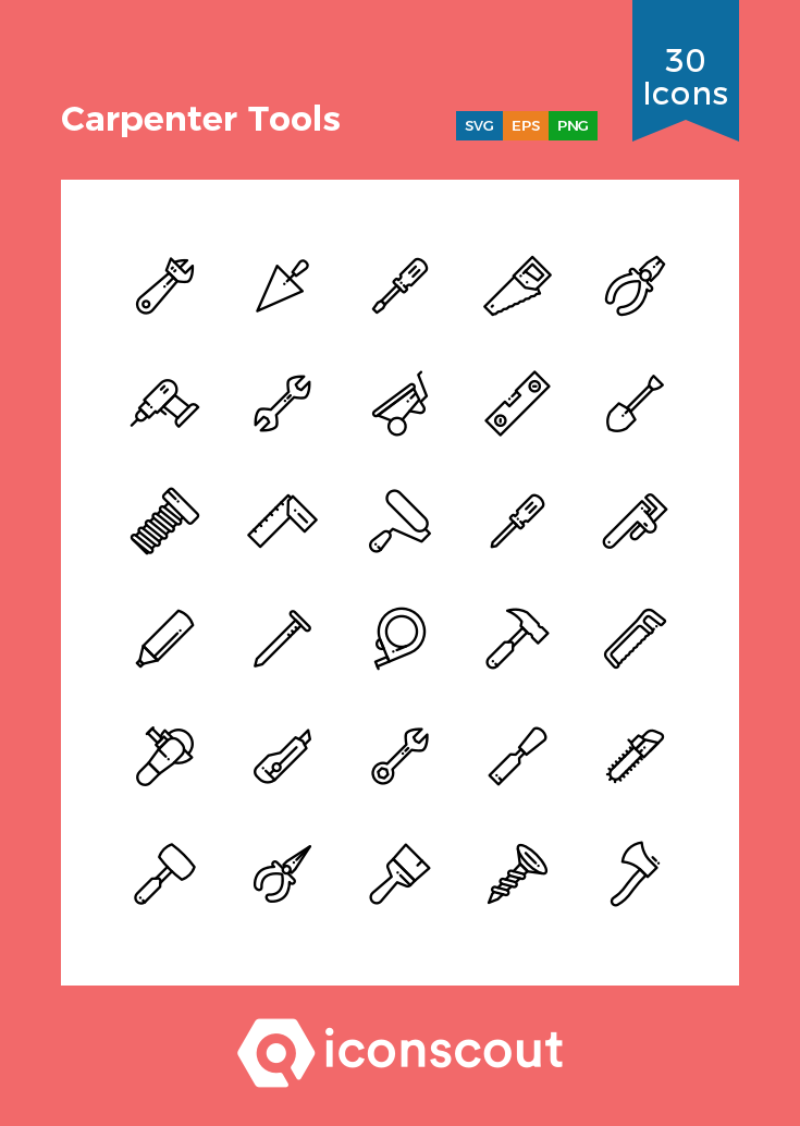 Download Carpenter Tools Icon Pack Available In Svg Png Eps Ai Icon Fonts Carpenter Tools Tool Logo Icon