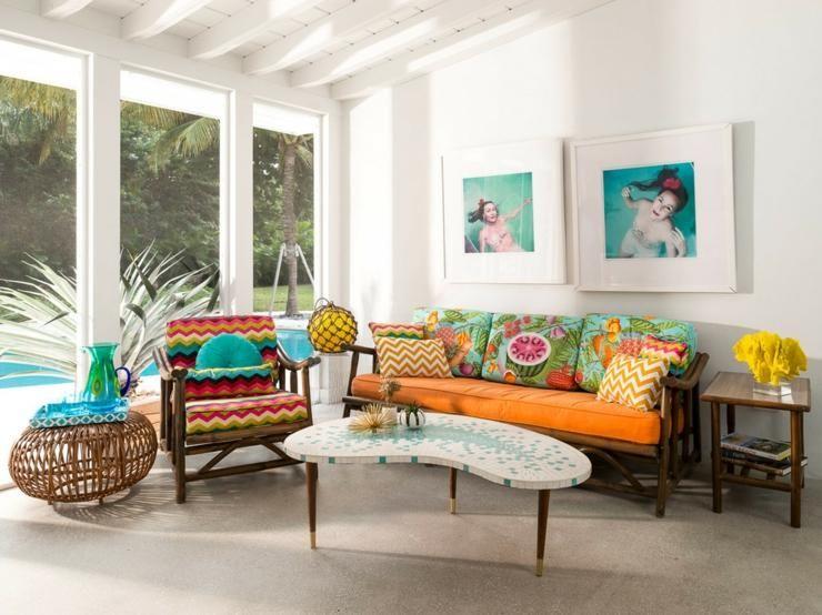 Interieur Maison Modern : Maison à l intérieur éclectique et joyeux en floride