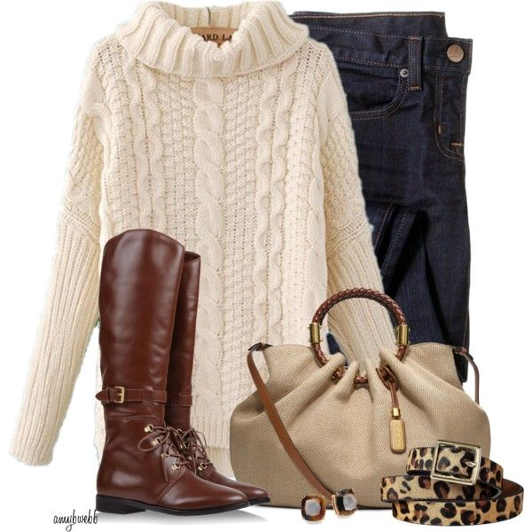 """""""Jeans/Sweater/Boots Contest"""" by amybwebb on Polyvore"""