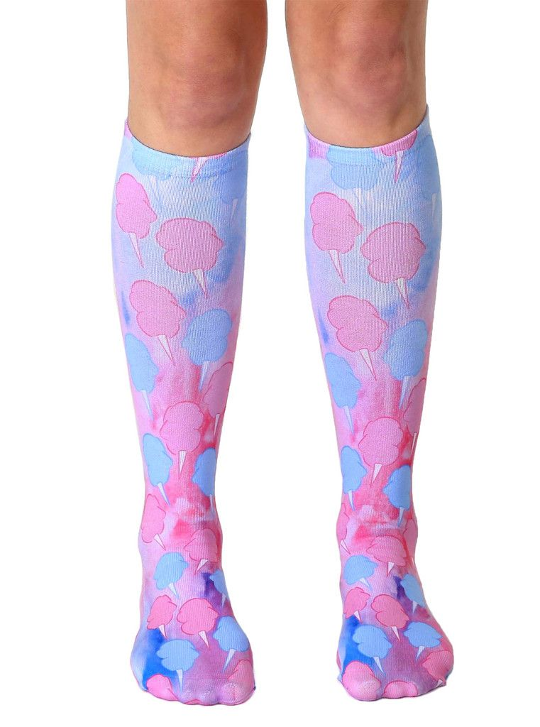 4b23ef1ec Cotton Candy Knee High Socks