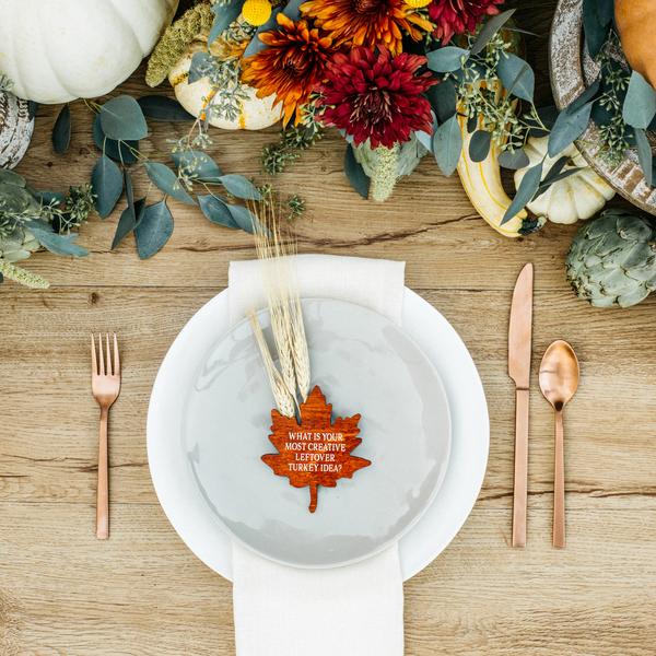Harvest Conversation Leaves thanksgivinghomedecor