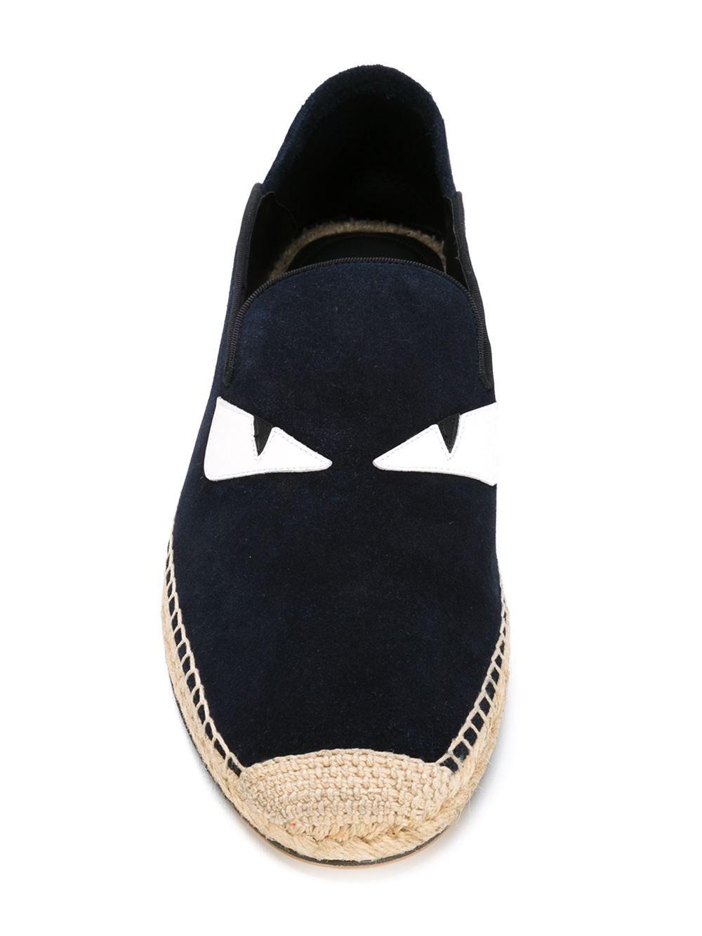 6cd9cec88b4602  fendi  shoes  bagbugs  navy  espadrilles  men  fashion www.