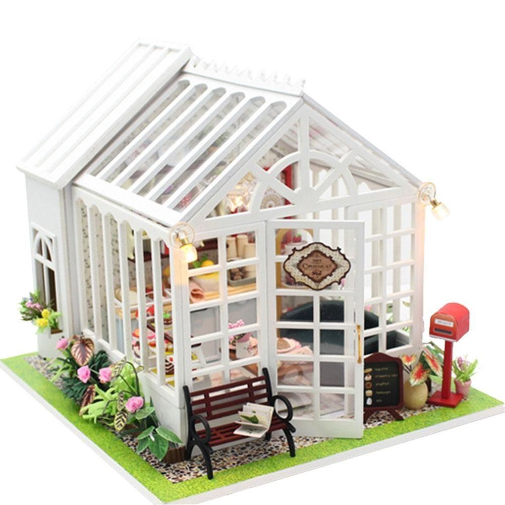 Günstige LeadingStar DIY Puppenhaus Holz Puppe Häuser Miniaturen für ...