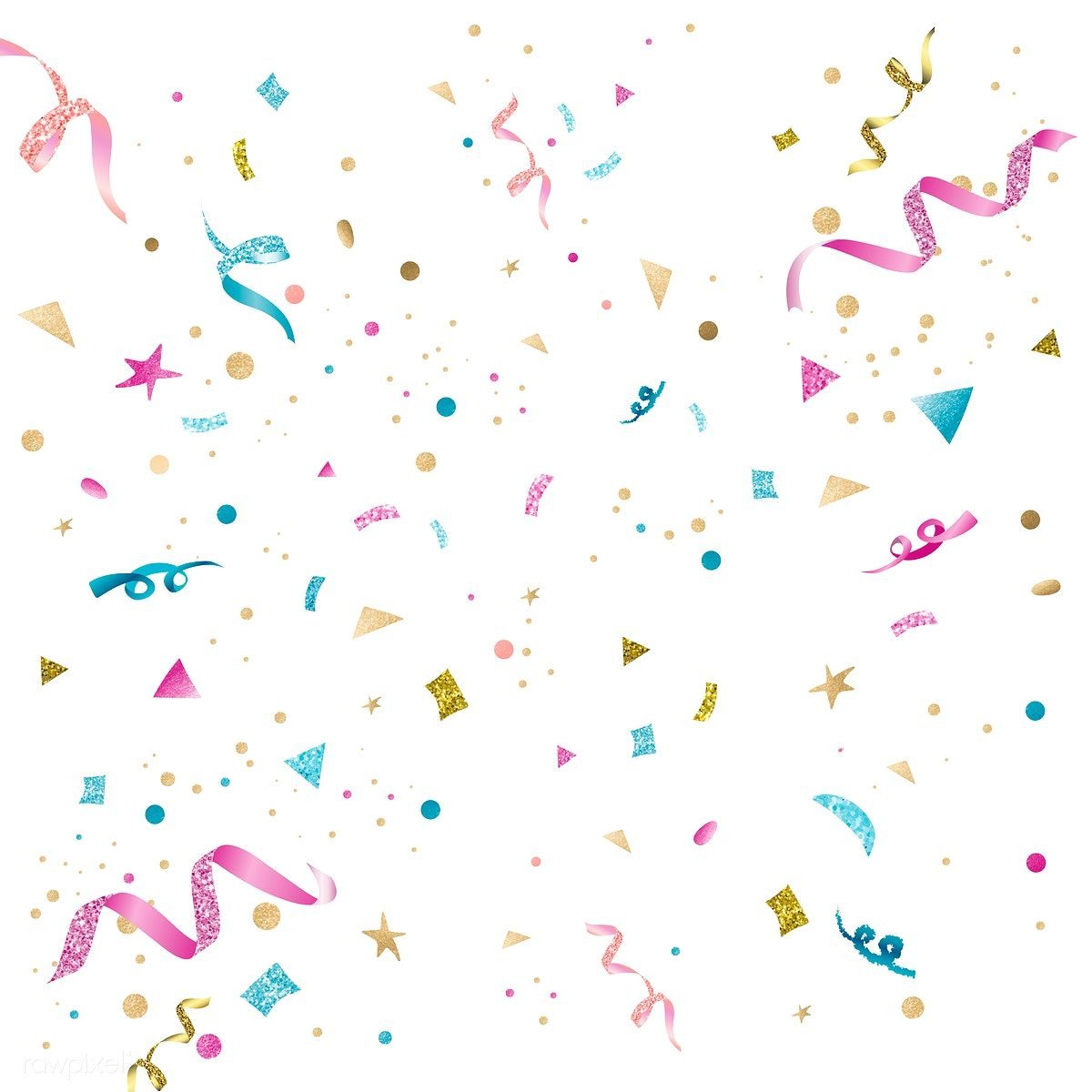 Download Premium Vector Of Pink And Blue Confetti Background Vector 553727 Confetti Background Confetti Background Wallpapers Birthday Background Wallpaper