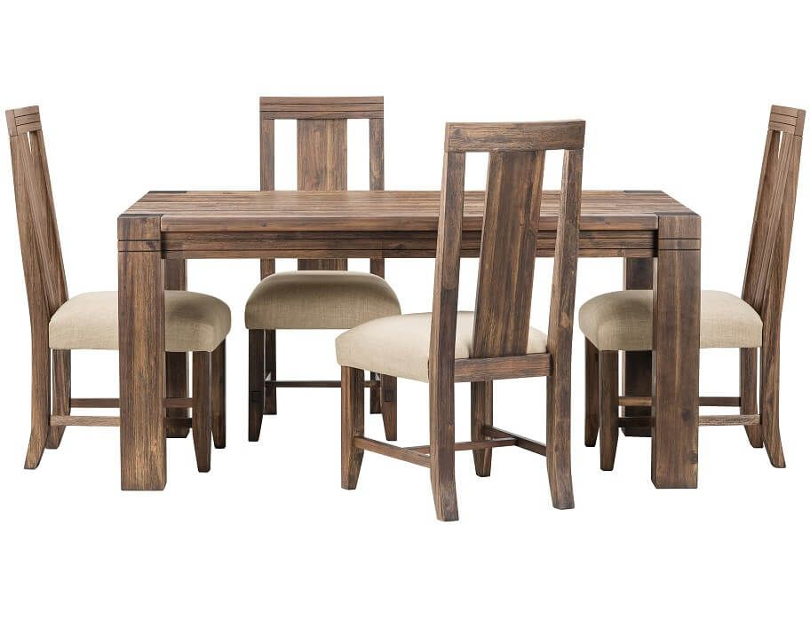 Slumberland  Prairie Collection  5Pc Dining Set Wwood Chair Glamorous Slumberland Dining Room Sets Inspiration