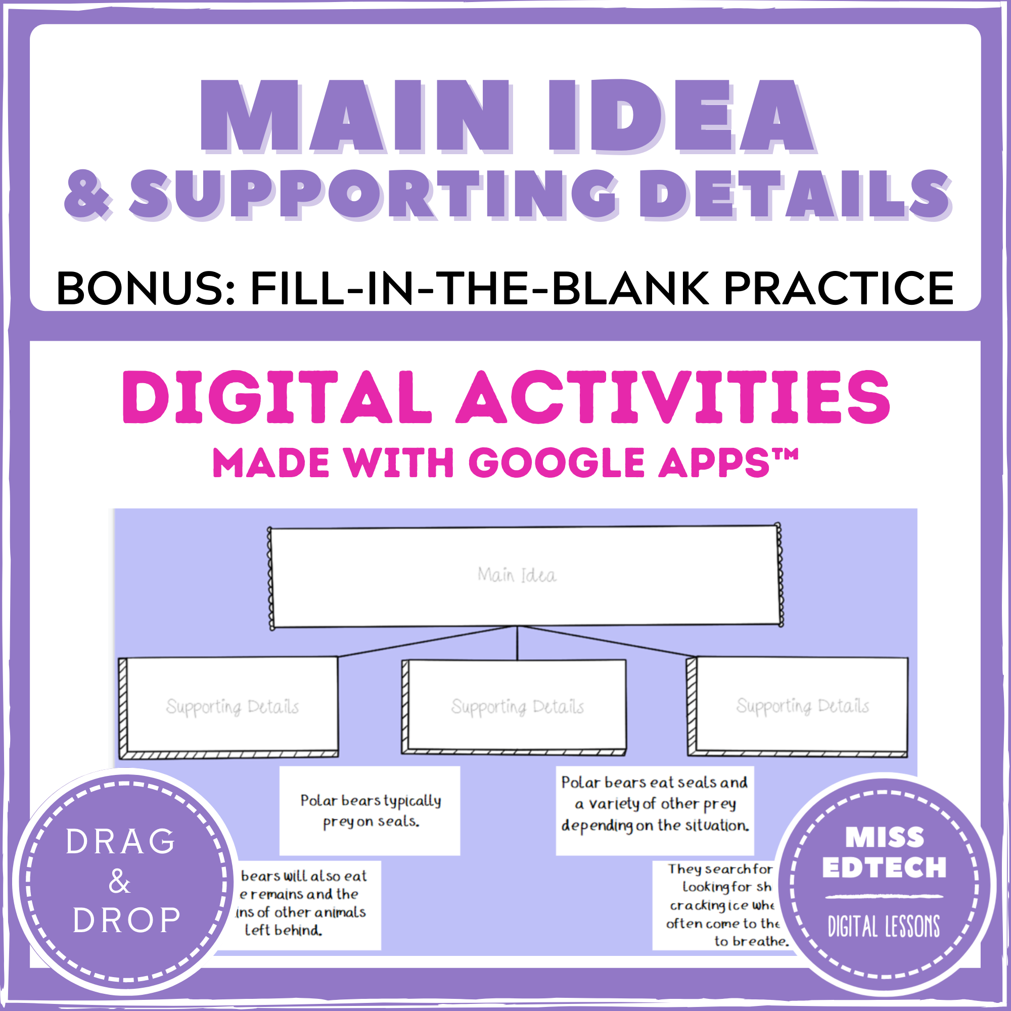 Main Idea Amp Supporting Details In