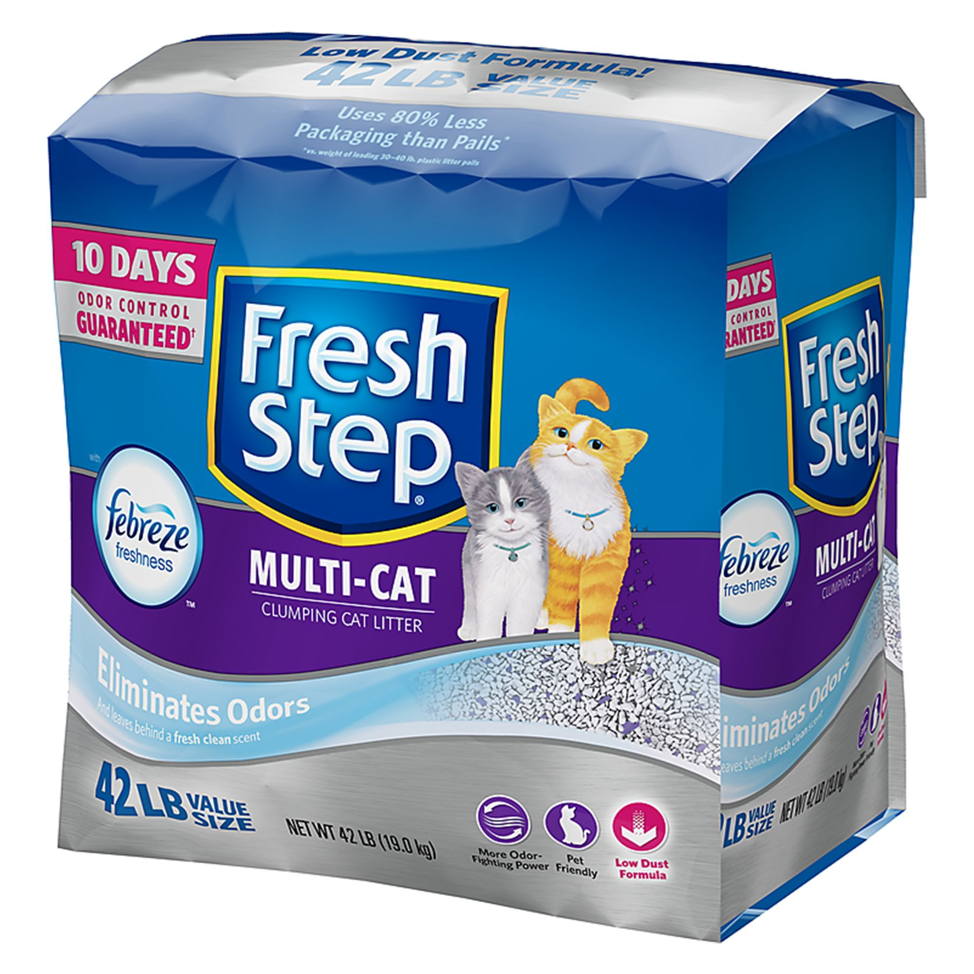 Fresh Step® with Febreze MultiCat Litter Clumping in