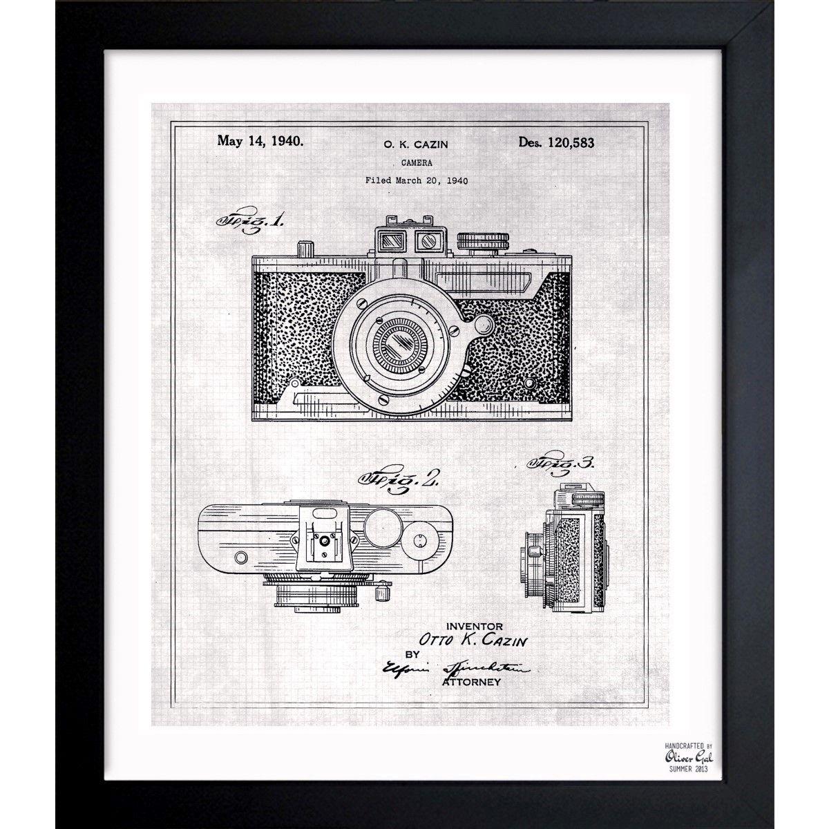Oliver gal cazin camera 1940 grey framed blueprint art by oliver oliver gal cazin camera 1940 grey framed blueprint art by oliver gal malvernweather Image collections