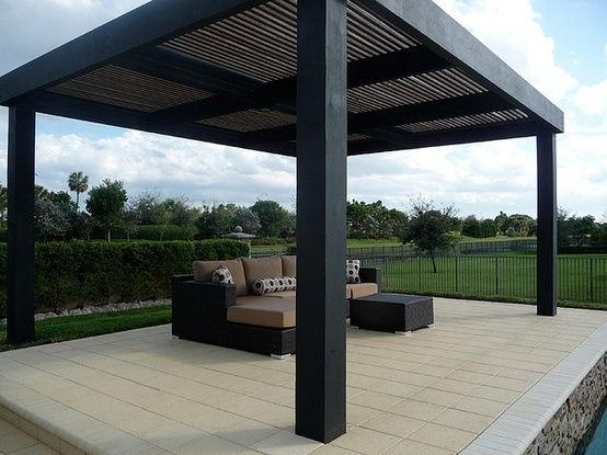 Simple Modern Black Pergola Something Along These Lines Modern Pergola Modern Gazebo Modern Pergola Designs