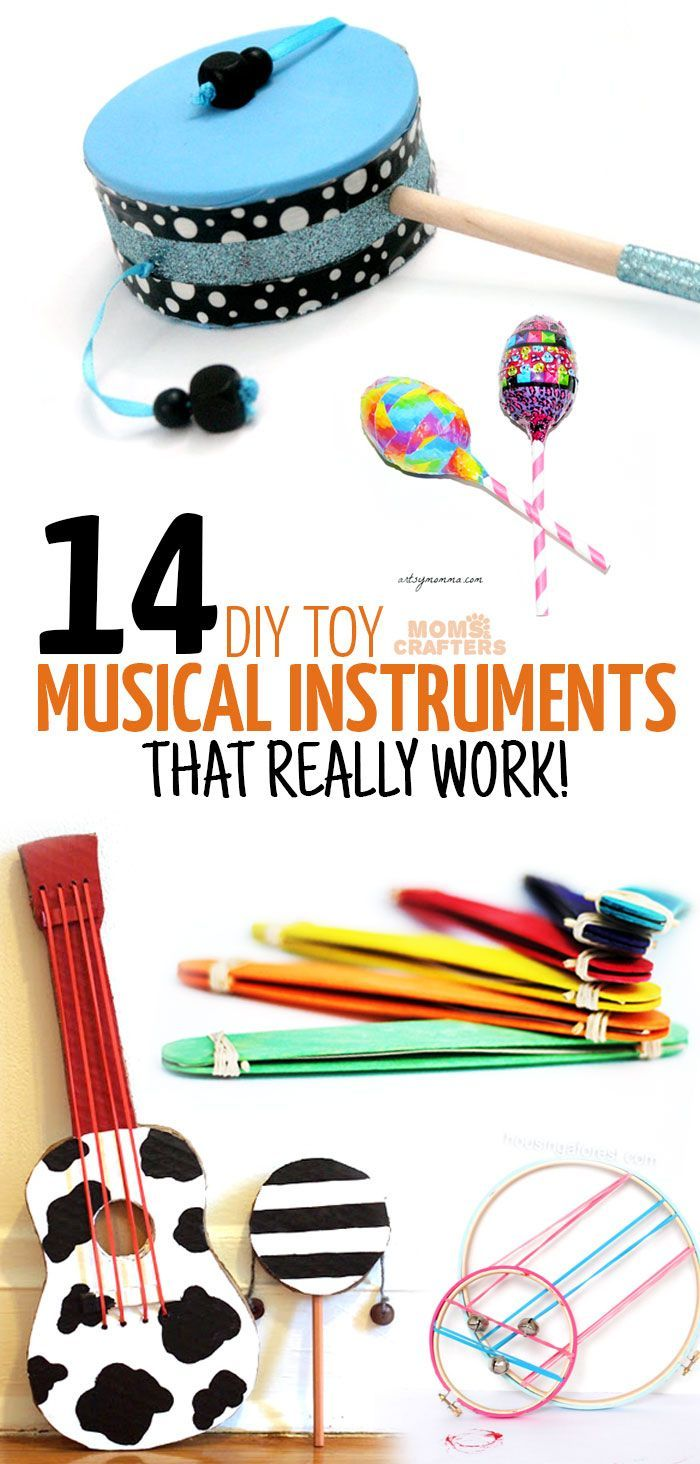 Craft Ideas For Kids-musical Instruments Part - 38: 14 DIY Musical Instruments. Craft Ideas For Kids ...