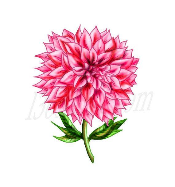 Beautiful Pink Dahlia Flower Clip Art Scrapbooking Party Etsy Flower Clipart Dahlia Flower Flower Clip